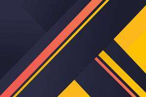 Geometric Material Yellow Blue Red 4k Wallpaper