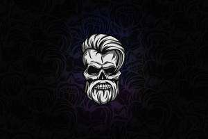 Beard Skull Dark 4k Wallpaper