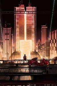 720x1280 Anime City Scape 4k