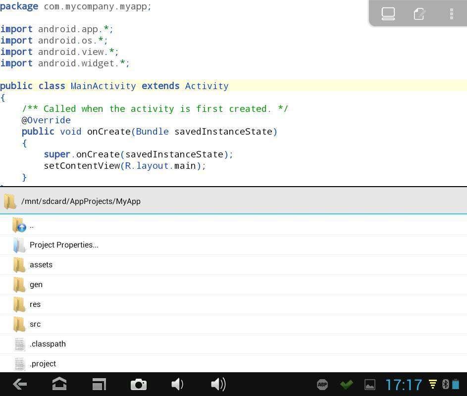 AIDE позволяет создавать полноценные Java-приложения для Android в самом Android
