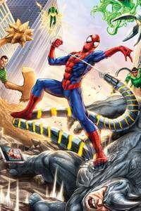 1080x1920 Spiderman Vs Sinister Six Art